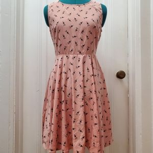 Everly Peaches and Umbrellas Dress - NWOT